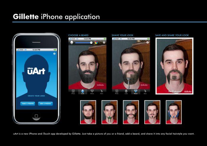 программа на айфон сделать бороду