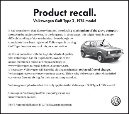 Amazing ad of the day volkswagen product recall sanjeevs art amazing ad of the day volkswagen product recall thecheapjerseys Gallery