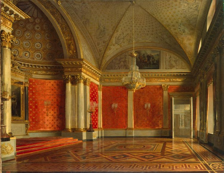 Interiors Of The Winter Palace The Peter S Small Throne