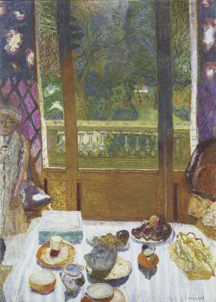 Dining Room Overlooking The Garden By Pierre Bonnard
