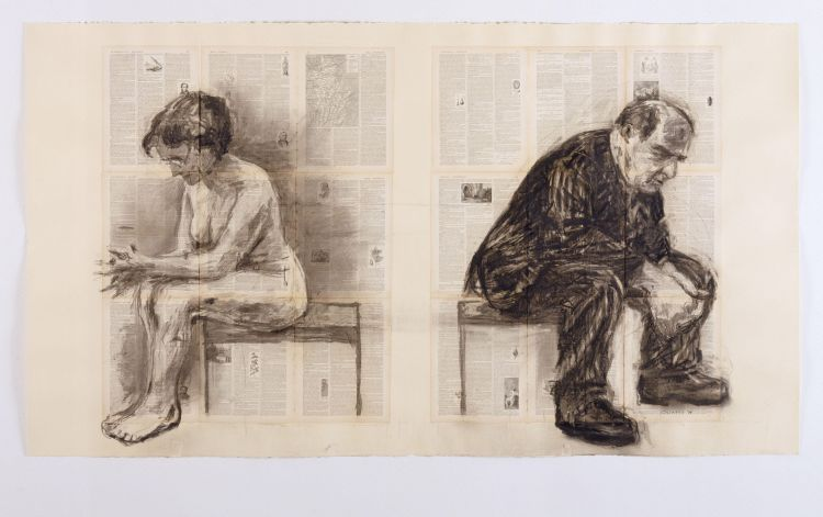 Seated Couple by William Kentridge : Sanjeev.NETwork