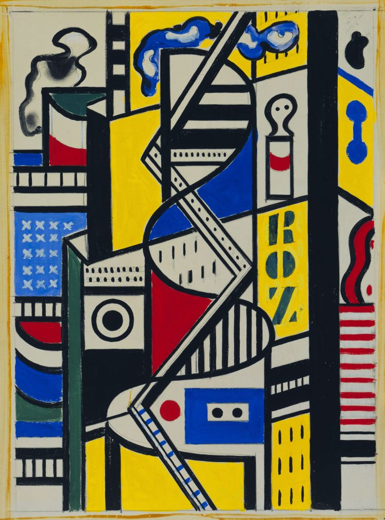 Study for Cinematic Mural, Study VI by Fernand Leger