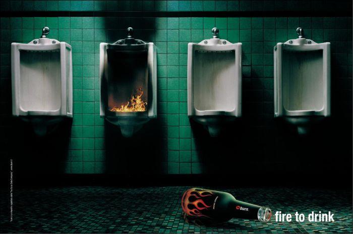 Burn Energy Drink: Rest room : Print Ads : Sanjeev.NETwork