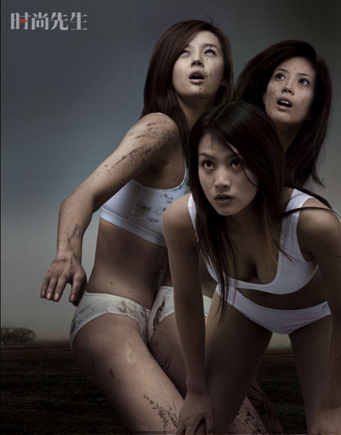 Три голых девочек 8 фотография