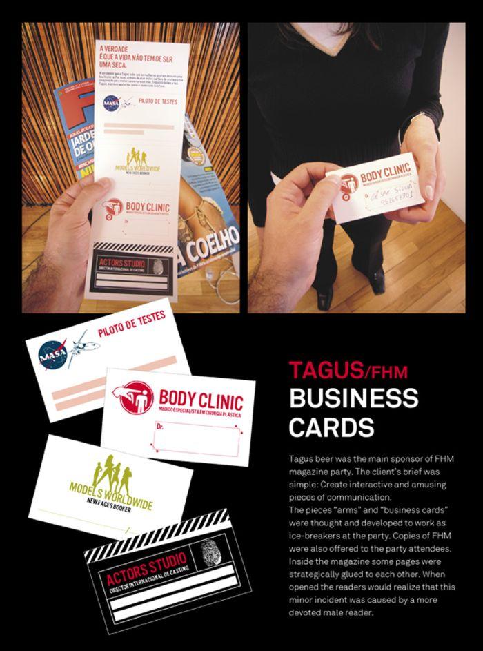 Sumolis GM Tagus beer Business cards Print Ads